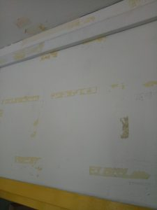 glue stain and mark on wall