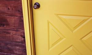 timber door painting