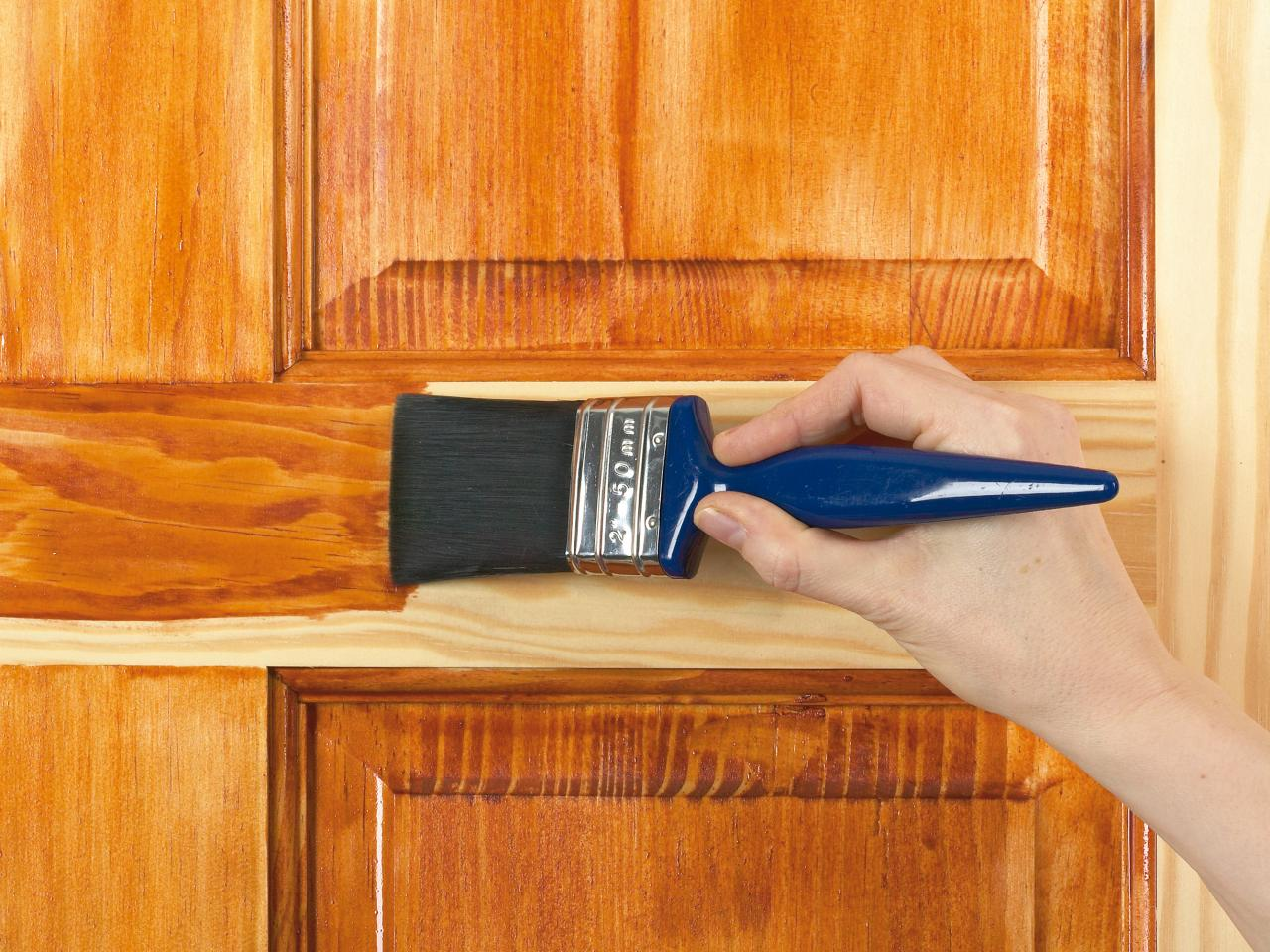 Good Painting A Varnished Door Good Looking