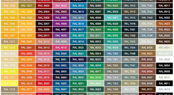 Ral Colour Chart Painter Choice Singapore